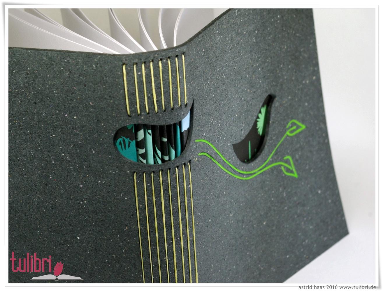 Blackbird  - ein kleiner Vogel aus hübschem Buntpapier